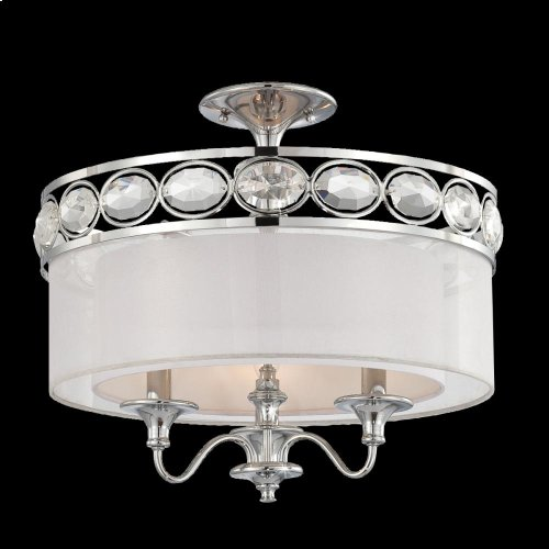 3-LIGHT SEMI FLUSHMOUNT - Chrome