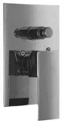 AB5601 Brushed Nickel Shower Valve Mixer with Square Lever Handle and Diverter