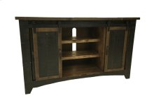 "Terra Black 60"" TV Stand W/Sliding Doors"