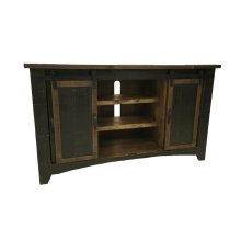 "Terra Black 72"" TV Stand W/Sliding Doors"