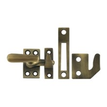 Window Lock, Casement Fastener, Small - Antique Brass