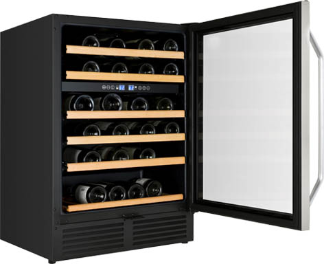 "Avanti24"" Wide Built-In Dual Zone Wine Chiller"