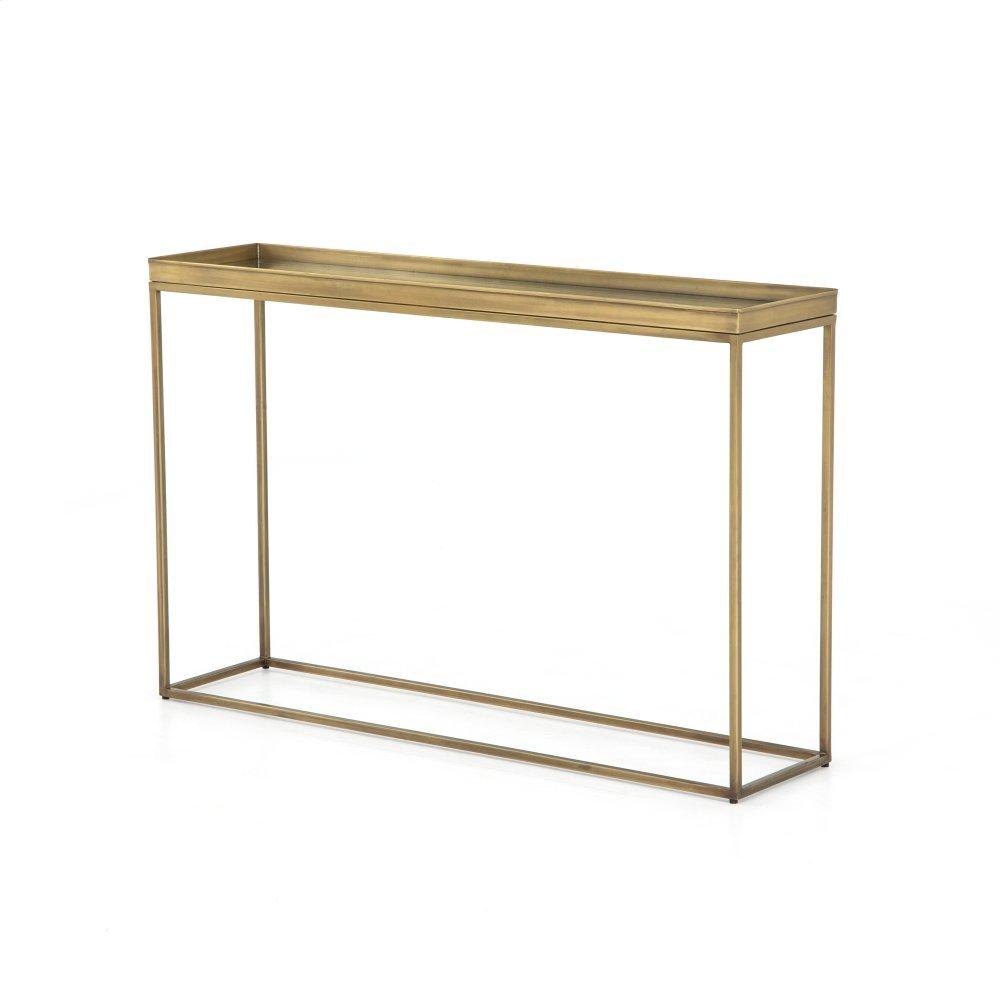 Antique Brass Finish Kline Console Table