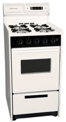 "Deluxe Bisque Gas Range In Slim 20"" Width With Electronic Ignition, Digital Clock/timer, Oven Window and Light; Replaces Stm1307kw"