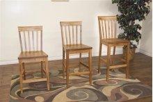 Sedona Slatback Barstool,wood Seat