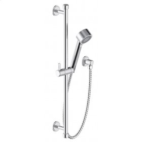 Polished Chrome Wallace (Series 15) Slide Bar with Hand Shower