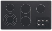 """5 Elements Traditional Black Ceramic Glass Surface Electric 36"""" Width Architect® Series II"""