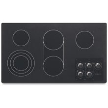 "5 Elements Traditional Black Ceramic Glass Surface Electric 36"" Width Architect® Series II"