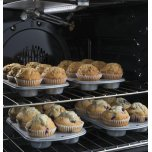 "GE ®30"" Slide-In Front Control Convection Gas Range"