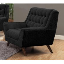 Natalia Mid-century Modern Black Chair