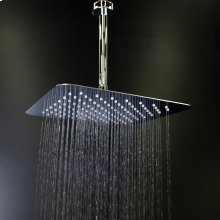 "Ceilling mount tilting square rain shower head with ultra thin edge and flow regulator 3.1 gal/m, 112 rubber nozzle. Arm and flange sold separately. 12""x 12"""