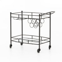 Gunmteal Finish Coles Bar Cart