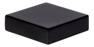 Thin Square Knob 1 1/4 Inch - Matte Black Product Image