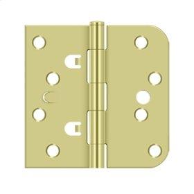 "4""x 4""x 5/8""x SQ Hinge - Polished Brass"