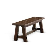 Cherry Grove Bench, Wood Seat