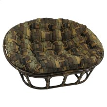 Mamasan Rattan Double Papasan Chair with Tapestry Cushion - Walnut/Hypotenuse