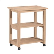 185 Microwave Cart with Two fixed shelves Product Image