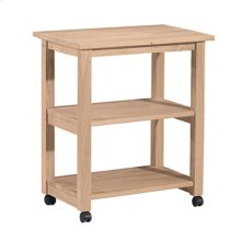 185 Microwave Cart with Two fixed shelves