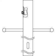 "3"" x 84"" Direct Burial Ladder Rest Internal Photocell Post Black"