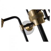 Hugo Floor Lamp/Metal+Glass/Polished Brass+Matte Black/25.5*25.5*71