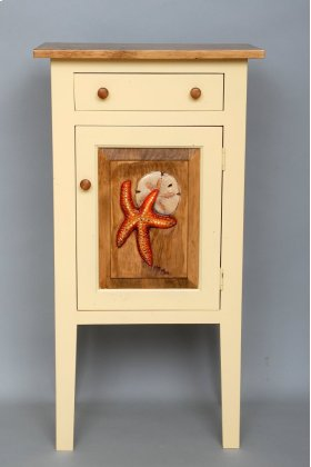 "#443 Charleston Cabinet(Shown with Carving) 19.75""wx12.5""dx37""h"