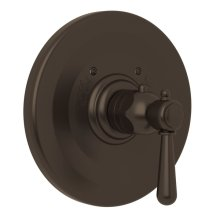 Tuscan Brass Verona Thermostatic Trim Plate Without Volume Control with Verona Series Only Metal Lever