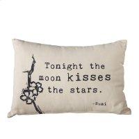 """Tonight the Moon Kisses the Stars"" Lumbar Pillow. Product Image"