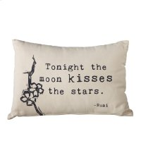 """Tonight the Moon Kisses the Stars"" Lumbar Pillow. Product Image"