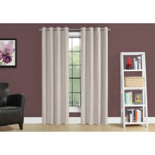 "CURTAIN PANEL - 2PCS / 52""W X 84""H IVORY ROOM DARKENING"