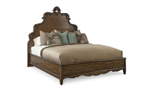 Continental King Panel Bed - Weathered Nutmeg