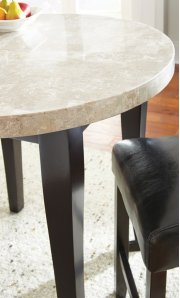 """Monarch Marble Top Counter Table, 40"""" Round, (36""""H) Product Image"""