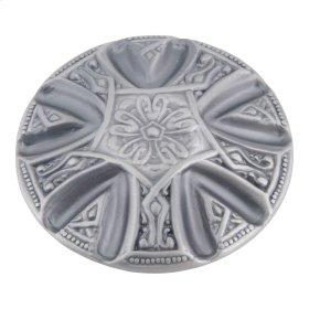 Maltese Knob 1 5/8 Inch - Pewter