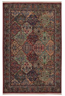 Multicolor Panel Kirman - Rectangle 4ft 3in x 6ft