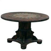 "Round Ped Table W/Stone & Star Medio : 48"" x 30"" x 48"" Round Dining Tables W/Stone Product Image"