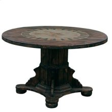 "Round Ped Table W/Stone & Star Medio : 48"" x 30"" x 48"" Round Dining Tables W/Stone"