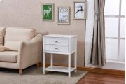 6628 White Side Table Product Image