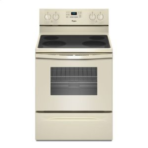 Whirlpool® 5.3 Cu. Ft. Freestanding Electric Range with Easy Wipe Ceramic Glass Cooktop - Biscuit-on-Biscuit - BISCUIT-ON-BISCUIT