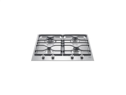 24 Segmented cooktop 4-burner Stainless