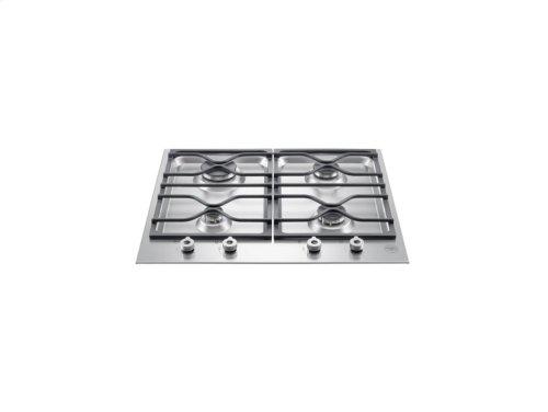 24 Segmented cooktop 4-burner Stainless