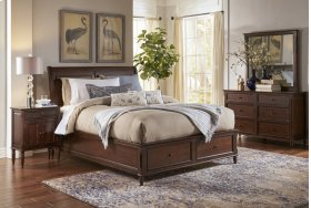Avignon Birch Cherry Queen Storage Footboard
