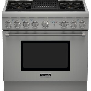Thermador36-Inch Pro Harmony® Standard Depth Dual Fuel Range
