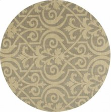 Hard To Find Sizes Riviera Ri04 Slate Round Rug 8' X 8'