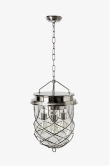 Compass Ceiling Mounted Large Pendant with Glass Shade STYLE: CMLT03