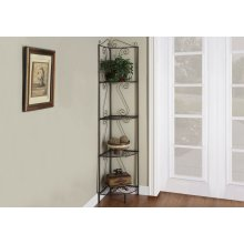 "BOOKCASE - 70""H / COPPER METAL CORNER ETAGERE"