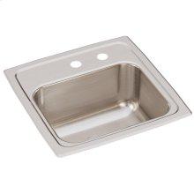 "Elkay Lustertone Classic Stainless Steel 15"" x 15"" x 7-1/8"", Single Bowl Drop-in Bar Sink"