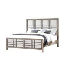 Emerald Home B562-12-k Briar Crest King Bed, Cappuccino Gray