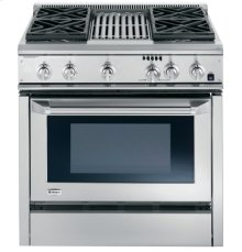 "GE Monogram® 36"" Dual-Fuel Professional Range with 4 Burners and Grill (Liquid Propane)"