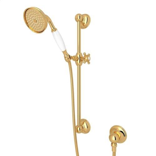 Italian Brass Single-Function Anti-Cal Handshower/Hose/Bar/Outlet Set