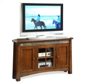 Craftsman Home Corner TV Console Americana Oak finish
