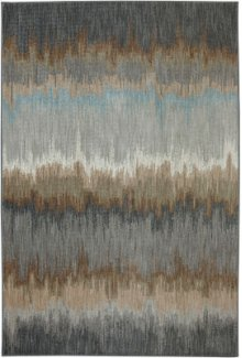 Cashel Abyss Blue Rectangle 5ft 3in X 7ft 10in